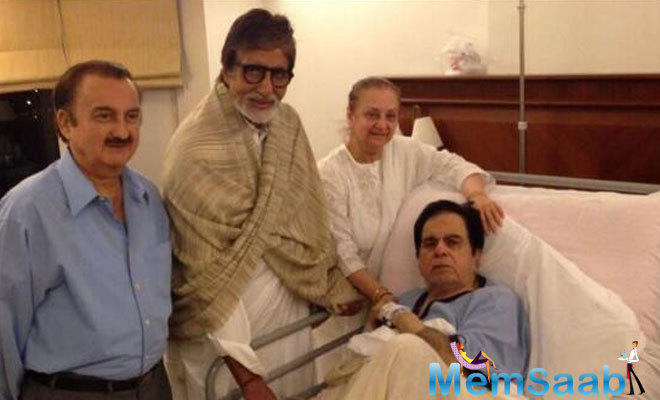 Amitabh Bachchan said that veteran actor Dilip Kumar, who was hospitalised on Saturday morning for