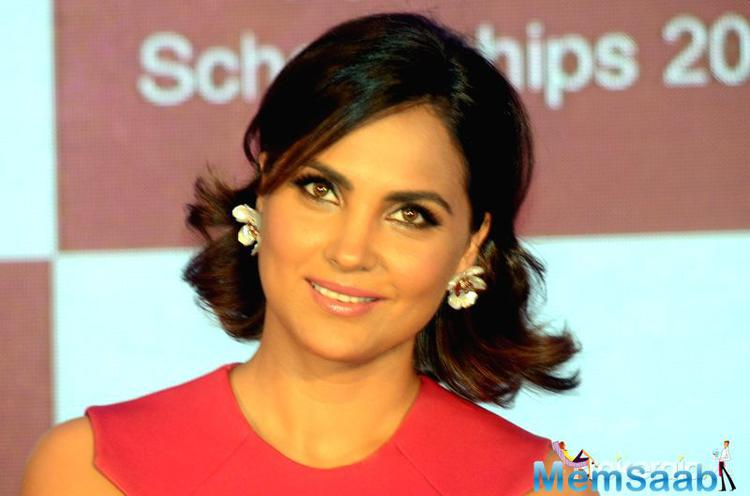 Actress Lara Dutta during a Fair & Lovely Foundation programme in Mumbai,