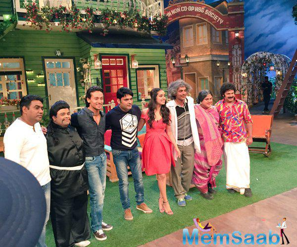 Sunil Grover, who is part of the show, posted a pic and tweet 'Thanks 'Baaghi' family. Such happy and positive energy. Had lots of fun'.