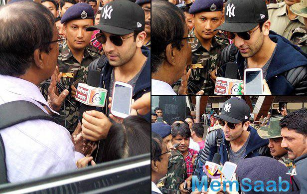 When it's Ranbir Kapoor, you know how crazy a crowd can get. The actor had a media interaction with a cover of a tight security.
