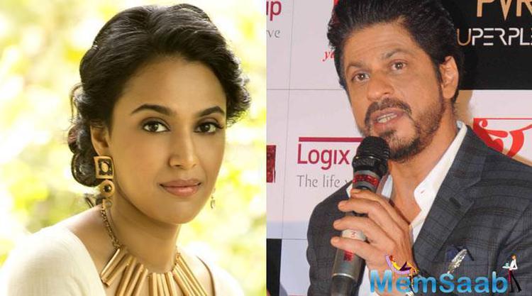 Swara Bhaskar, who will soon be seen in Nil Battey Sannata, said  am a big fan of SRK and wants to work with him.