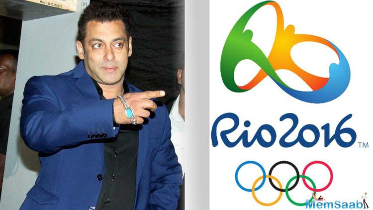 The Indian Olympic Association chose Salman Khan from a list of two to three candidates which also included Shah Rukh Khan and megastar Amitabh Bachchan.