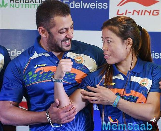 Superstar Salman Khan who was yesterday named as the goodwill ambassador of the Indian contingent for the Rio Olympics to be held in August this year.