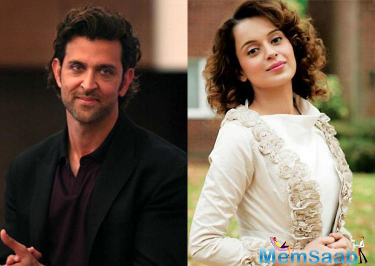 As per the reports, the picture of Hrithik cuddling Kangana was clicked at a party held at actor Arjun Rampal's residence before the release of Krrish 3