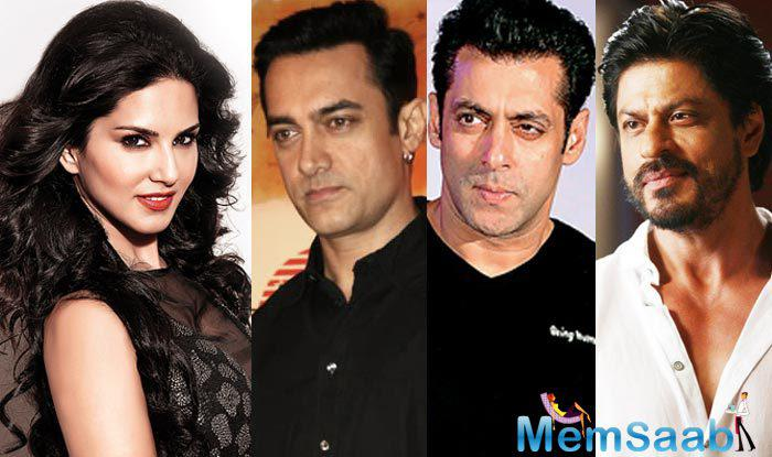 Sunny Leone said today that she was looking forward to working with three Khans of Bollywood's Aamir Khan, Salman Khanand Shah Rukh Khan in near future.