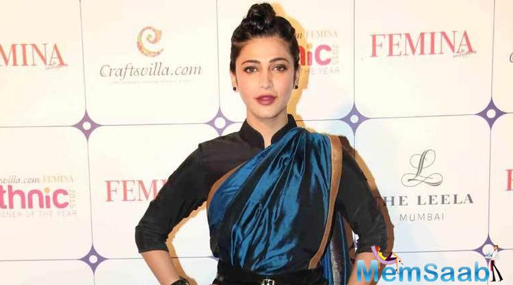 Shruti Haasan is an Indian film actress, singer, and musician known for her works in Telugu,Tamil and Hindi language films. She  will soon be sharing the screen space with veteran actor Kamal Haasan