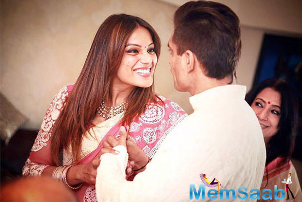 Bipasha and Karan spent a quality time during their pre wedding party