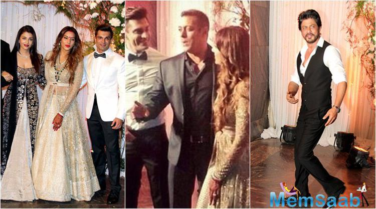 Bipasha and Karan's wedding reception was carried at suburban five star on April 30. Top Bollywood stars attended to congratulate the newly weds