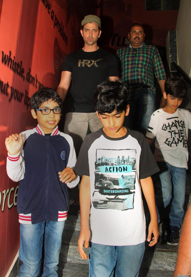 Hrithik Roshan's younger son Hridhaan turned eight on Sunday