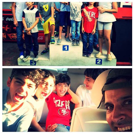 Hrithik, who was permitted an entry to the chillar party, shared a selfie on Instagram saying: 'We are all winners'