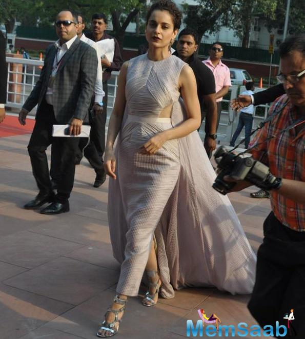 Kangana Ranaut, who choose for the National Award (best actress) third time,  is all ready to lead off to Delhi in a short while from now.