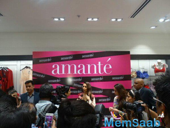 At the time of store launch, Malaika spoke few words. When Malaika was asked about her choice of endorsement brands, Malaika said that celebrities should always understand the brand they are promoting