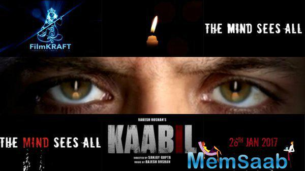 "The teaser was put up by Hrithik Roshan on his social media handle, which read, ""Blinded by a million eyes watching me… when in fact I am the observer, I am the watcher.. The mind's eye sees all. #Kaabil."""