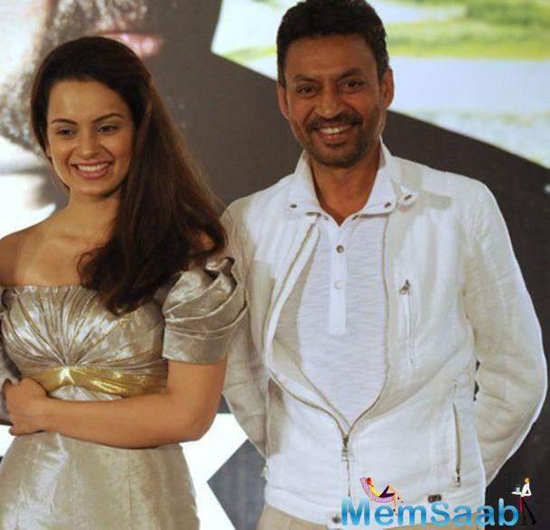 Irrfan Khan said in a statement, he would like to play a 'heroine' in a film which also stars National Award-winning actress Kangana Ranaut as a hero.