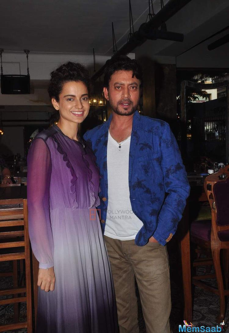 Reports suggested that Irrfan, 49, and Kangana, 29, will star in director Sai Kabir's Divine Lovers. Kangana left the picture show in December last year, citing date issues. Now, Zarine Khan has replaced Kangana.