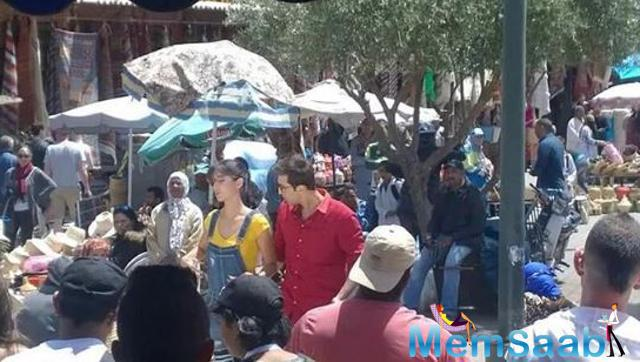 Ranbir Kapoor and Katrina Kaif shoot a song for Jagga Jasoos in Morocco