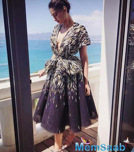 Sonam Kapoor is the brand ambassador of L'Oréal Paris, and is representing the cosmetic giant at Cannes.