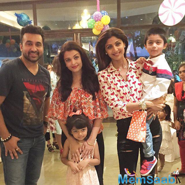 Shilpa shared one such photograph starring her husband Raj Kundra, the birthday boy, actress Aishwarya Rai Bachchan and her four-yr-old daughter Aaradhya, on Instagram on Sunday night.