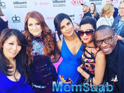 On Instagram, Priyanka  shared a photograph from the Billboard Music Awards in Las Vegas held on May 22. In the image, Priyanka poses with Meghan, entrepreneur Anjula Acharia Bath and Troy Carter.