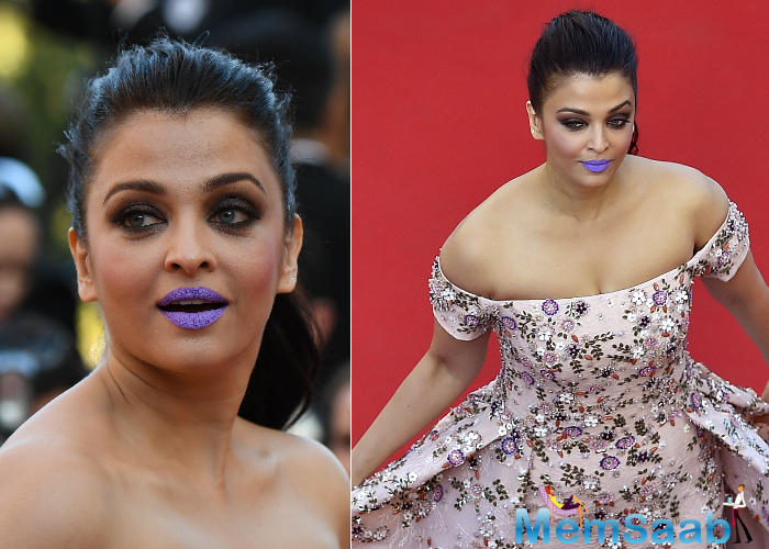 When asked what she felt about Aishwarya's purple lips outing and the response to it, Sonam said that the actress should be happy with the care she drew.