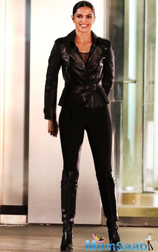 Deepika, who is presently gearing up for her Hollywood debut in xXx: The Return of Xander Cage – the third installment of the xXx franchise, see here her new avatar in a black outfit.
