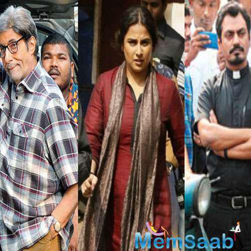 Ribhu Dasgupta's TE3N stars Big B, Vidya and Nawazuddin in pivotal roles. However, Vidya is  missing  from the poster of the movie.