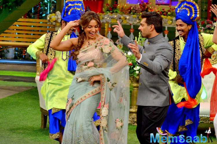 Kapil made them sing and dance together and we are sure their fans will have a gala time watching them together on their TV screens.