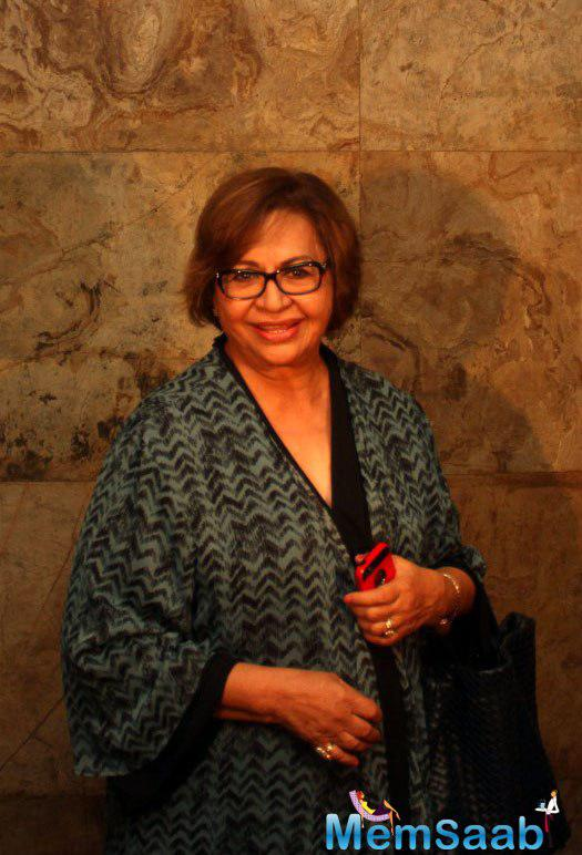 Helen poses for the camera during the special screening of film 'Nil Battey Sannata'