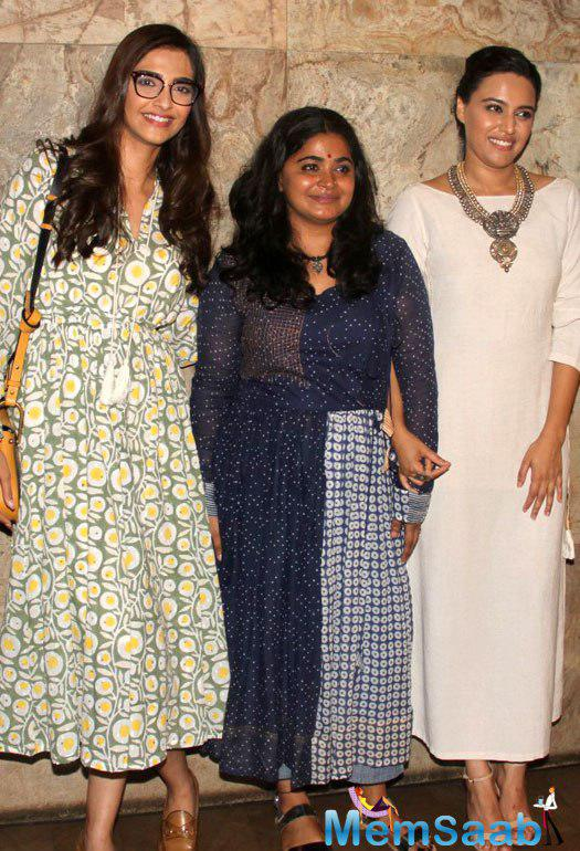 The makers of Nil Battey Sannata had organised a special screening for Sonam Kapoor.