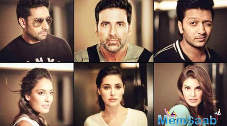 Apart from Akshay 'Housefull 3' also stars Riteish Deshmukh, Abhishek Bachchan, Jacqueline Fernandez, Nargis Fakhri and Lisa Haydon. And the star cast is happy with the success of the film