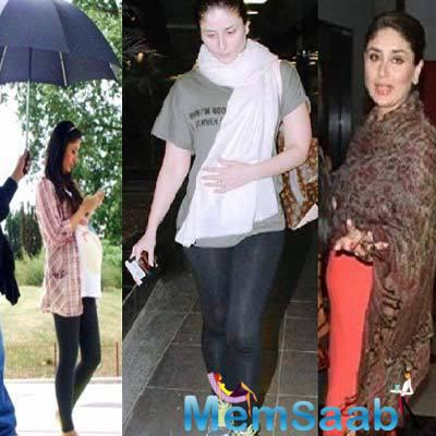 Rumours around Kareena's rumoured pregnancy got stronger at a recent event where many felt she was straining to cover a potential baby bump.