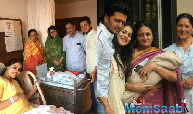 Riteish and Genelia had earlier announced the arrival of their second child using a picture of Riaan, their first-born.