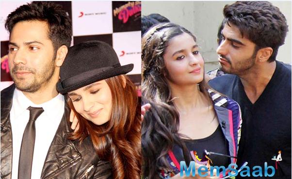 The  three Bollywood  stars Varun,Alia and Arjun may soon feature in a love triangle.