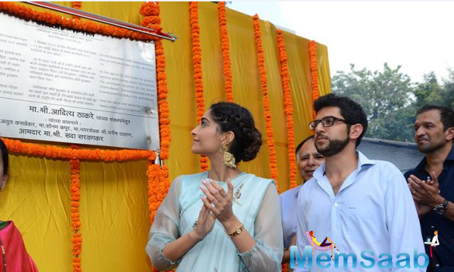 Neerja actress Sonam Kapoor on Wednesday, inaugurated a chowk in Mumbai unveiled a plaque to mark the inauguration of Neerja Bhanot chowk