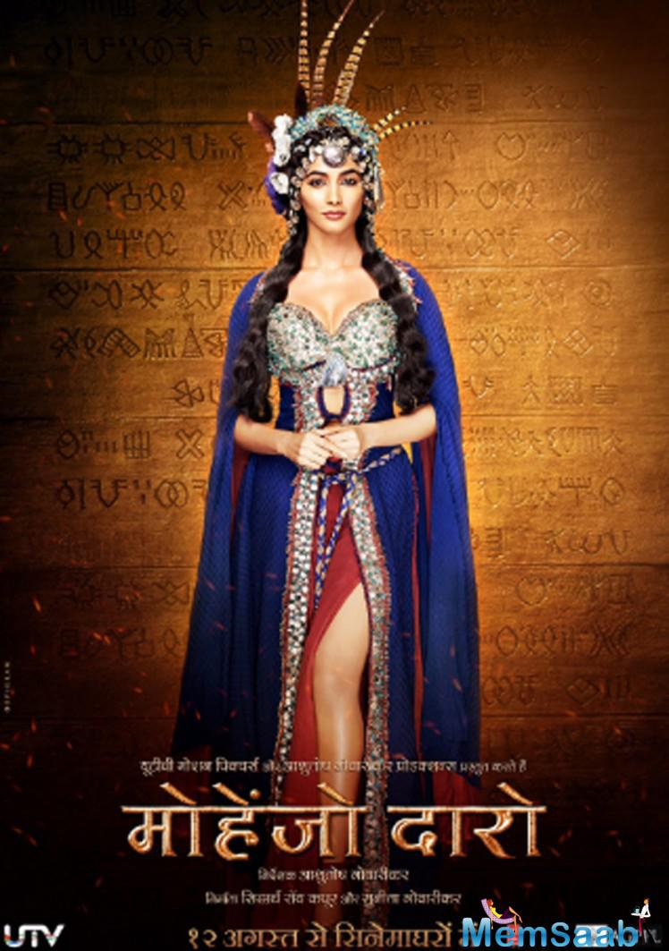 Pooja looks every inch of a princess in the first look of her upcoming flick Mahenjo Daro, which also stars Hrithik Roshan.