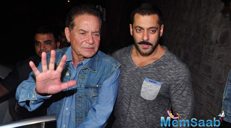 "Veteran actor and screenwriter Salim Khan tweeted ""Undoubtedly, what Salman said is wrong, the example, and the context. The intention was not wrong."