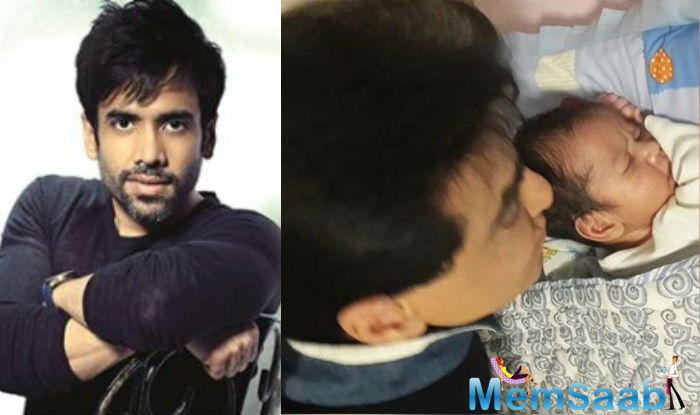 Tusshar  became the father of baby boy Laksshya. The little one's father was busy addressing the press about the arrival of the new born.