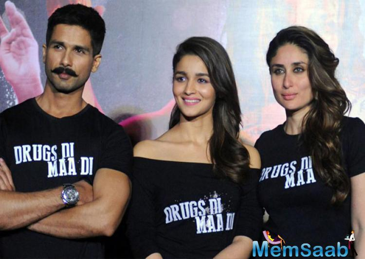 Alia Bhatt receives the highest praise from Kareena Kapoor Khan and Shahid Kapoor after her phenomenal performance in drug -themed film 'Udta Punjab'