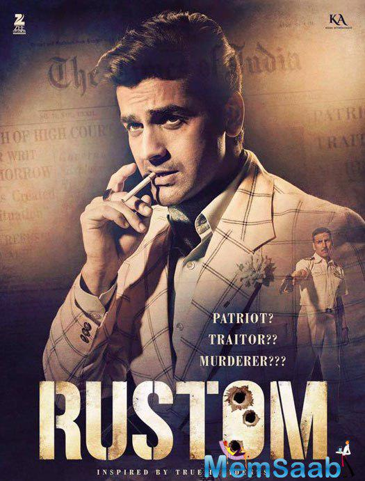 And finally that's Vikram Makhija played by Arjan Bajwa, who gets into extra-marital affair with Rustom's wife Priti.