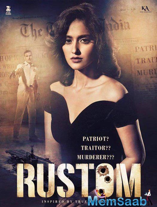 See here Cynthia Pavri played by Illeana D'Cruz. Cynthia is Rustom's wife who betrays him.