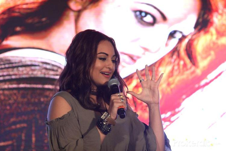 """During the launch event, Sonakshi said, """"I am really happy to be part of the film where a woman is doing so much action, it's a path breaker. I feel all powered-up to punch someone now."""""""