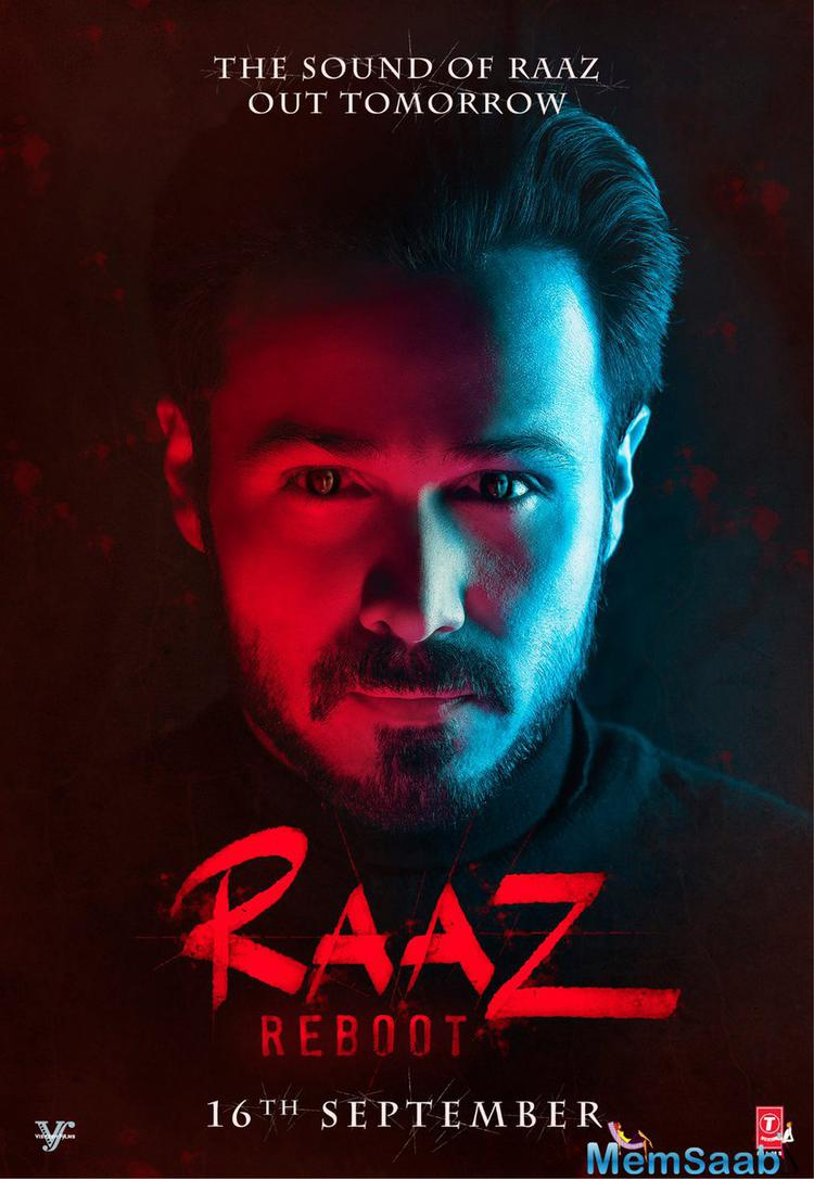 Finally, the first look poster of Raaz Reboot is out, which reflects fear and mystery, Emraan Hashmi in a mysterious and intriguing look, with a woman's face reflecting in his eyeballs.