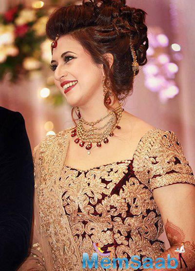 The duo tied the knot on July 8 in Bhopal, Divyanka's hometown, and then the couple flew down to Vivek's hometown for reception.