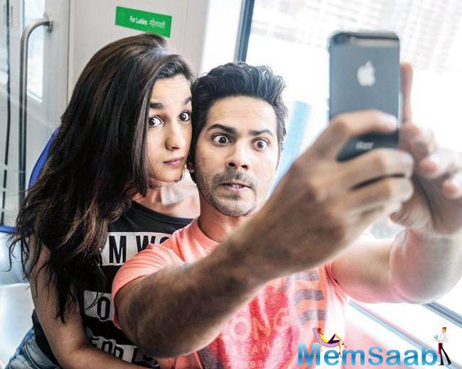 """Alia revealed in her second tweet, """"Anddddd this dulhania is on wheels…catch up with us again on the 10th of March 2017 #BadrinathKiDulhania !!! @Varun_dvn @ShashankKhaitan"""""""