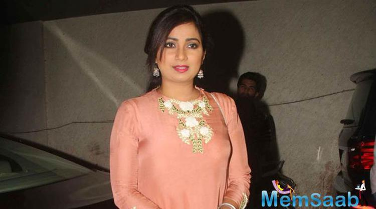 Shreya Ghoshal has recorded a song for Bhansali's upcoming film Padamavati and the singer calls the track a
