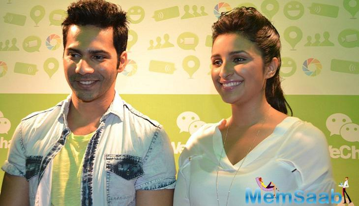 Varun screened the music track Jaaneman Aah, with Parineeti Chopra.The film Dishoom slated to release on July 29 the duo hinted that they might be seen in another film together