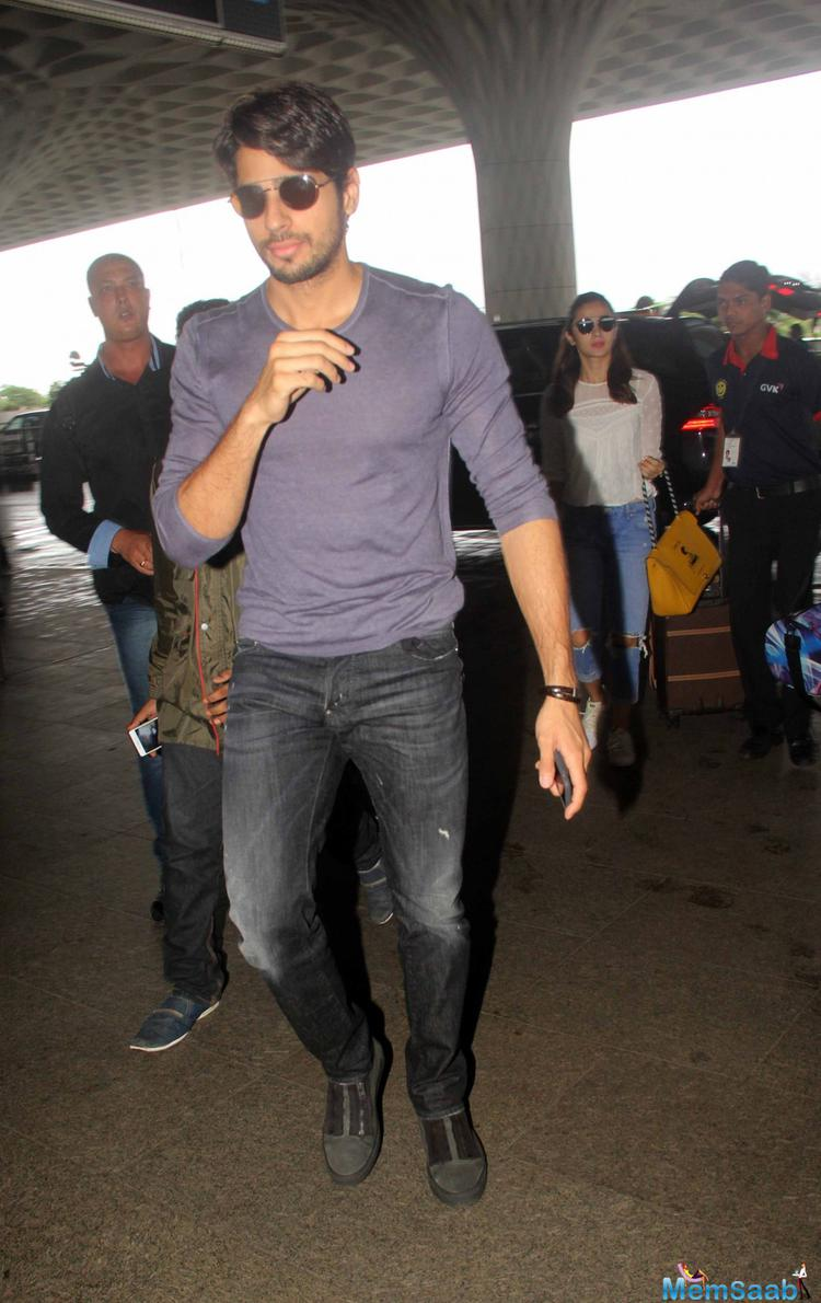 Just as there are rumors  of constant fights between Bollywood's darling couple Sidharth Malhotra and Alia Bhatt recently made headlines over a picture of their secret vacation in London.