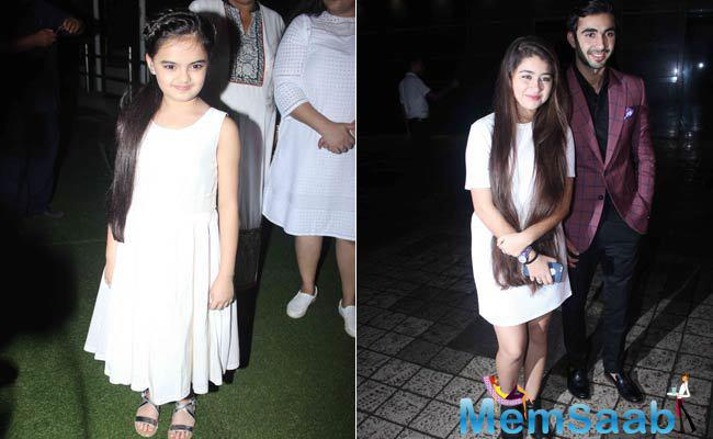 Child actress Ruhanika Dhawan, who featured as Divyanka's daughter in Yeh Hai Mohabbatein, was cute as a button in a white dress. Actors Aditi Bhatia and Abhishek Verma, who play siblings in the show, arrived together.