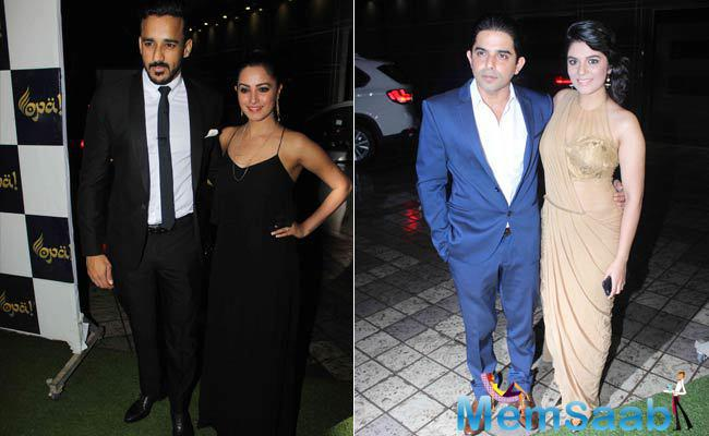 Divyanka's co-star Anita Hassanandani arrived with her hubby Rohit Reddy. They were looking stunning in black. Raj Singh Arora, who plays the character of Mihir also attended the event