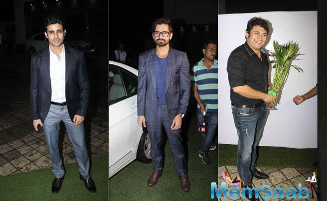Other TV stars like Gautam Rode, Vishal Singh and Rajesh Kumar gave a special appearance at the Mumbai reception of Divyanka and Vivek